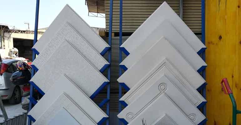 Material de escayola para techos
